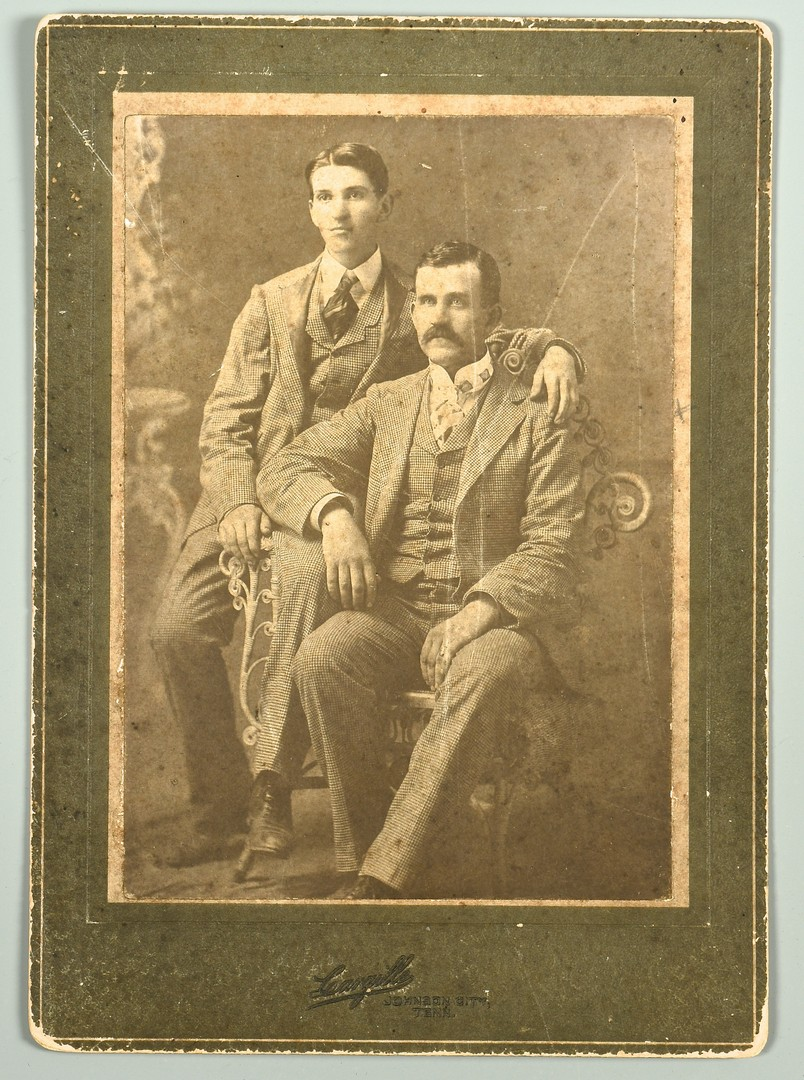 Lot 565: East TN Police Tintype and Cabinet Cards