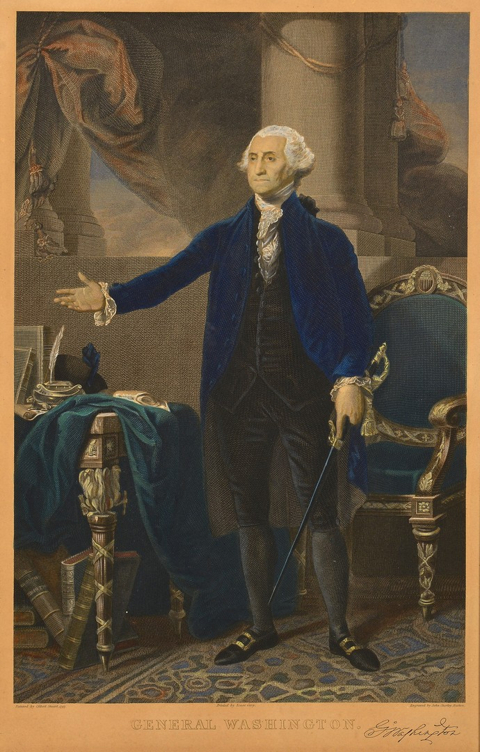 Lot 566: George Washington Engraving after Stuart