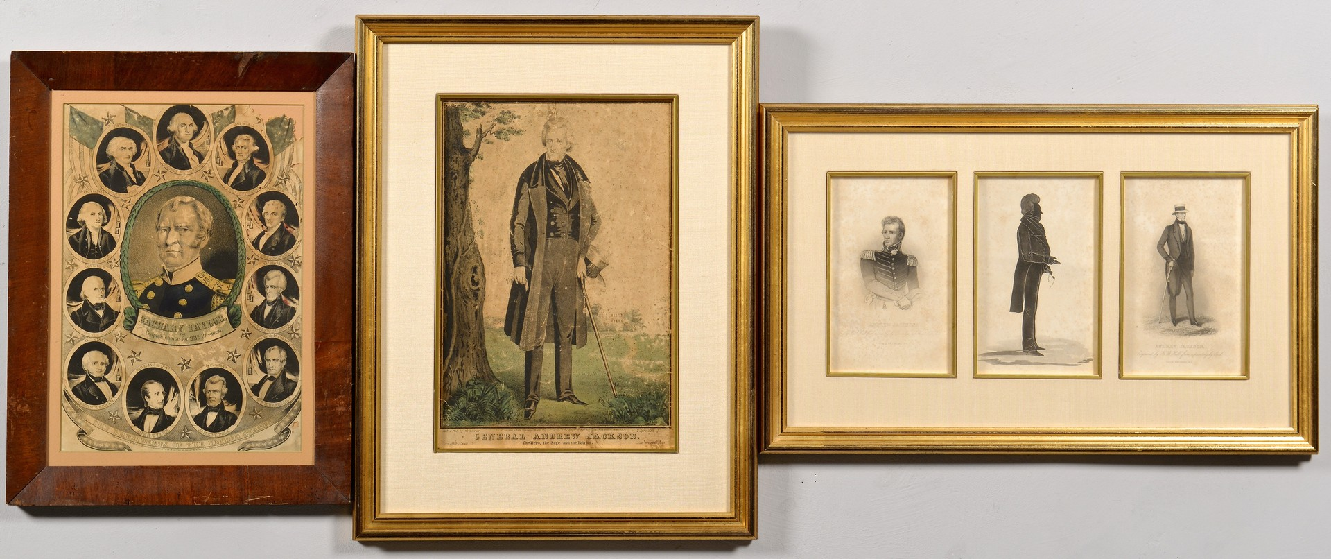Lot 567: Andrew Jackson Prints, Zachary Taylor Campaign Pos