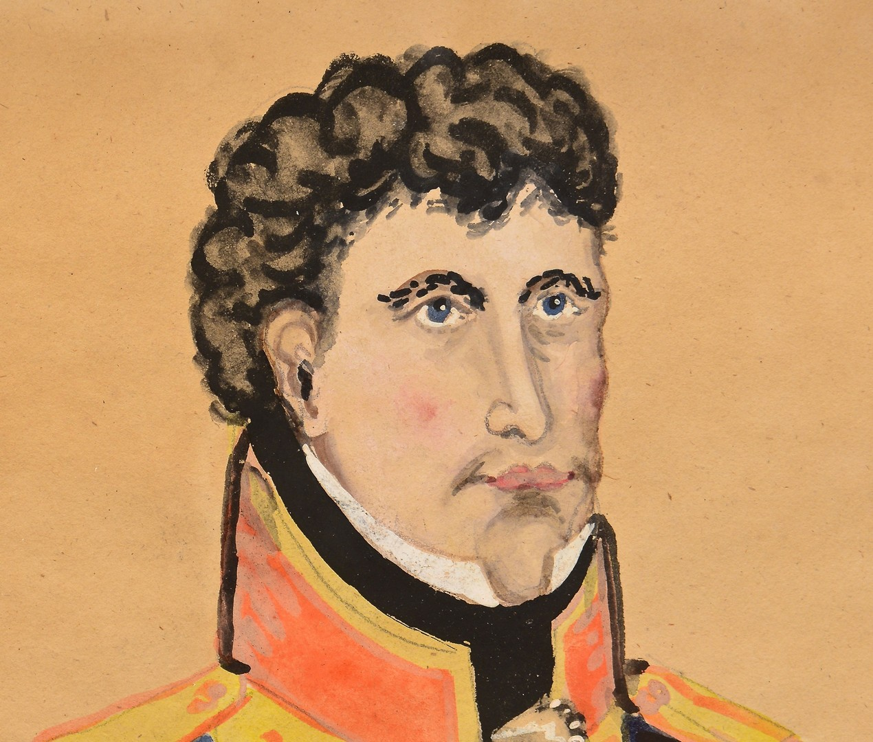 Lot 568: Folk Art Portrait of President Andrew Jackson