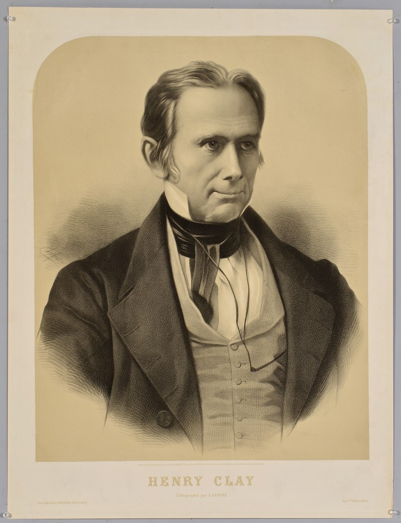 Lot 571: Lithographic portrait of Henry Clay