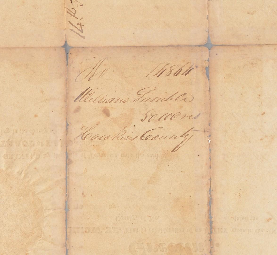 Lot 572: Sam Houston signed land grant