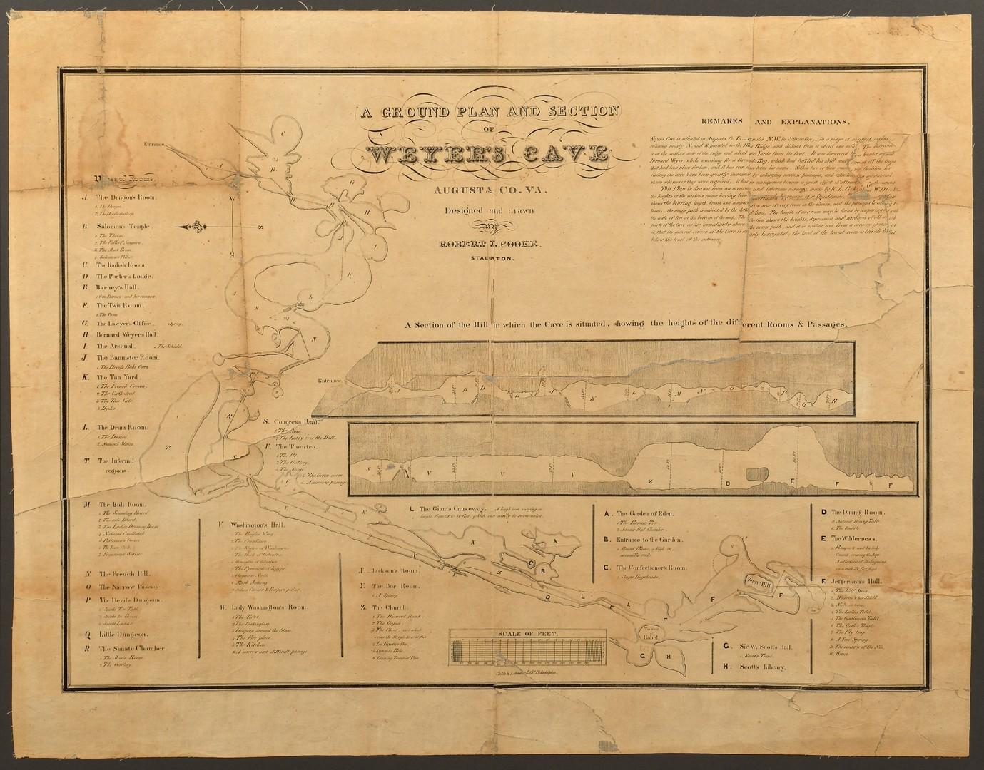 Lot 574: Weyer's Grand Caverns Cave Map, ca. 1835