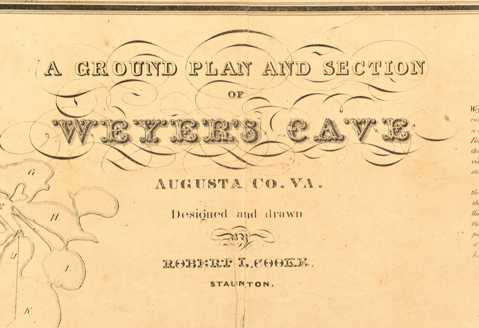 Lot 574: Weyer's Grand Caverns Cave Map, ca. 1835
