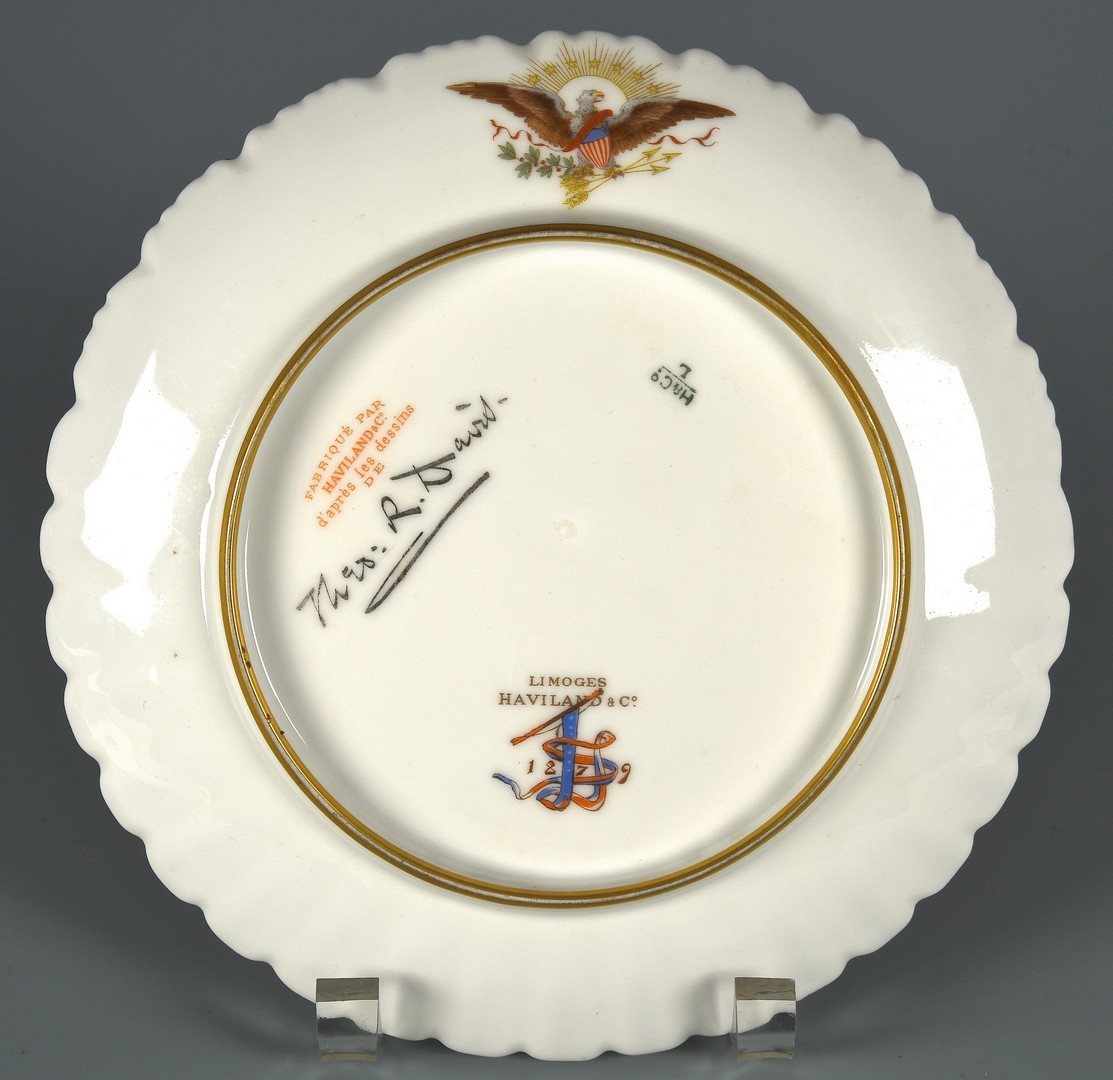 Lot 580: Rutherford B. Hayes Official White House China Pla