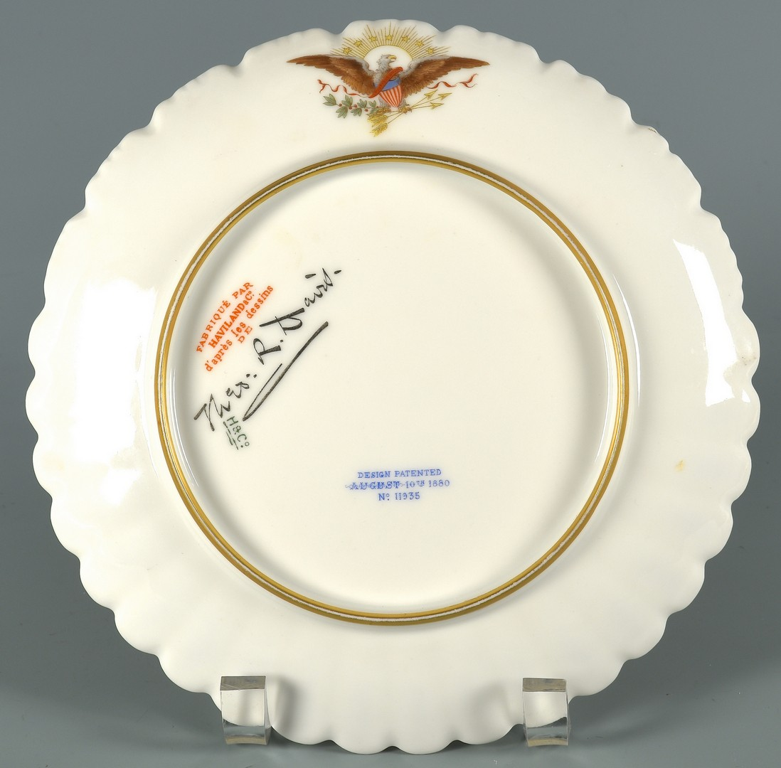 Lot 581: 2 Hayes Presidential Plates, Haviland