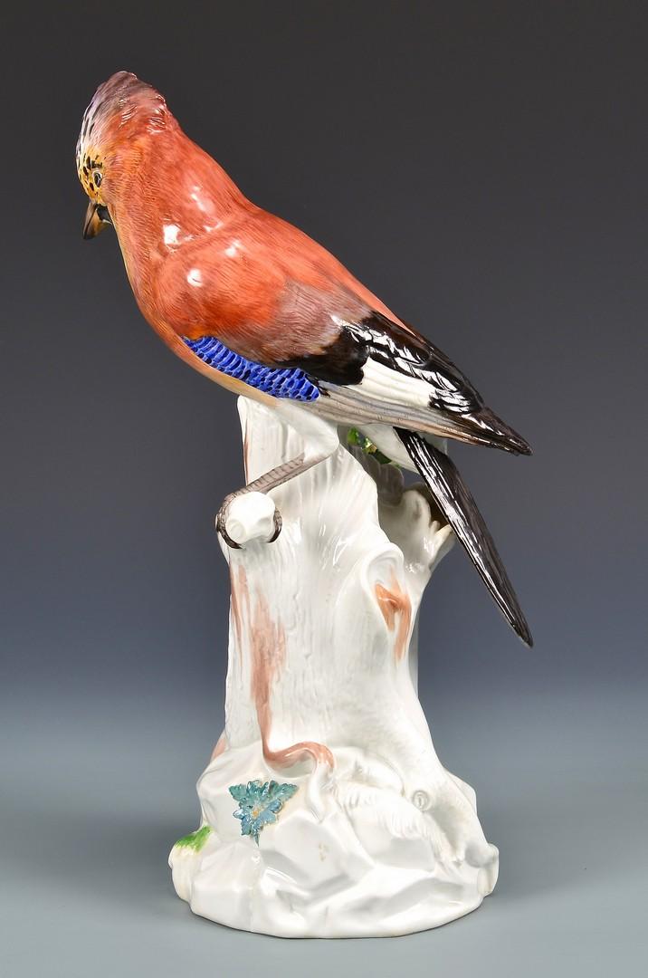 Lot 584: Meissen Bird on Branch Figure