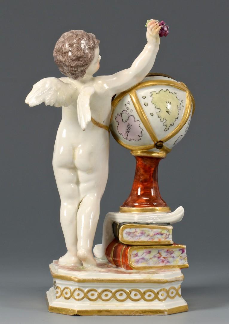Lot 587: KPM Porcelain Figural Clock