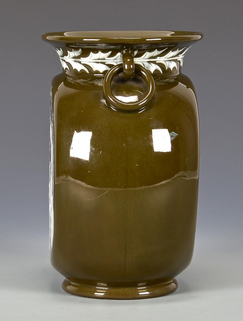 Lot 588: Pate Sur Pate Porcelain Vase