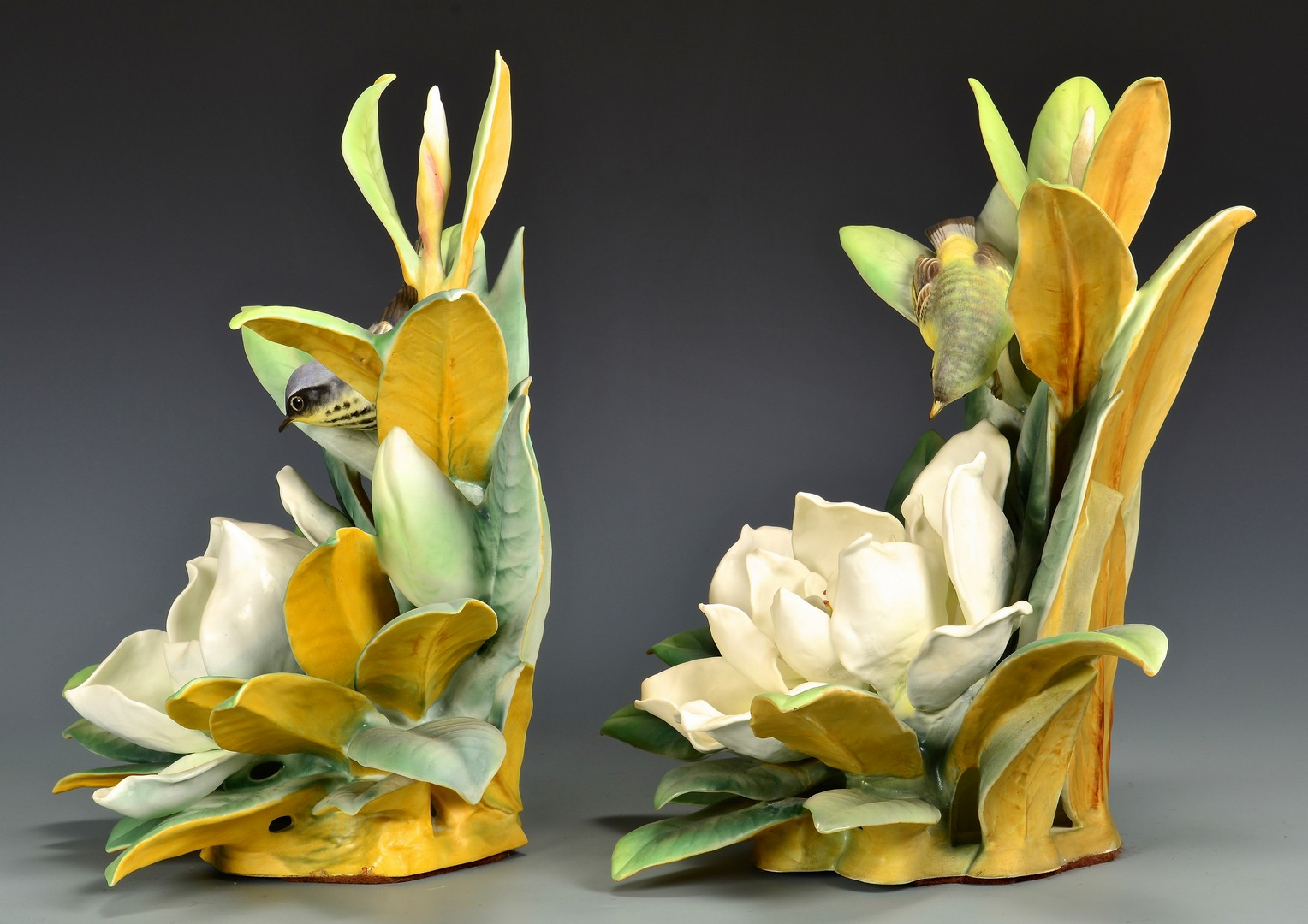Lot 590: Pair Dorothy Doughty Magnolia Warblers