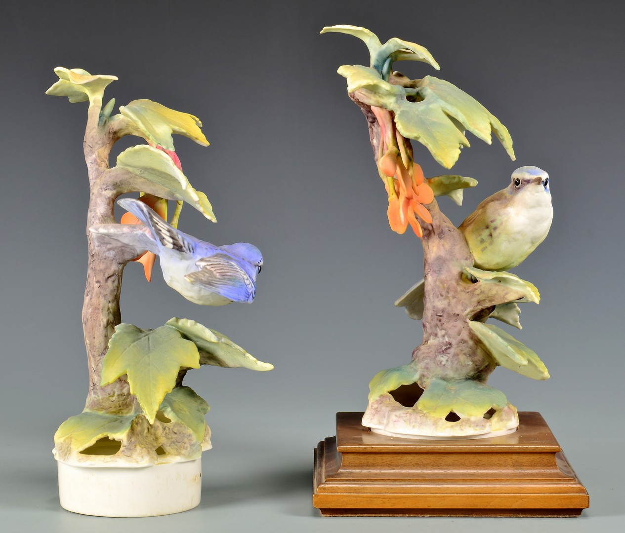 Lot 597: Pair Dorothy Doughty Cerulean Warblers