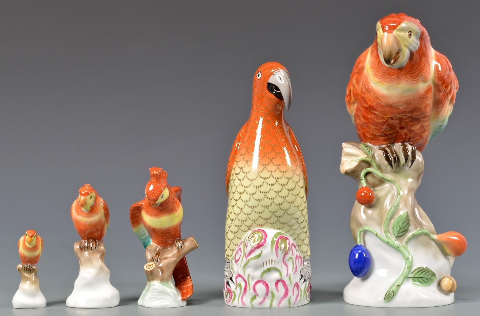 Lot 599: 5 Herend Birds