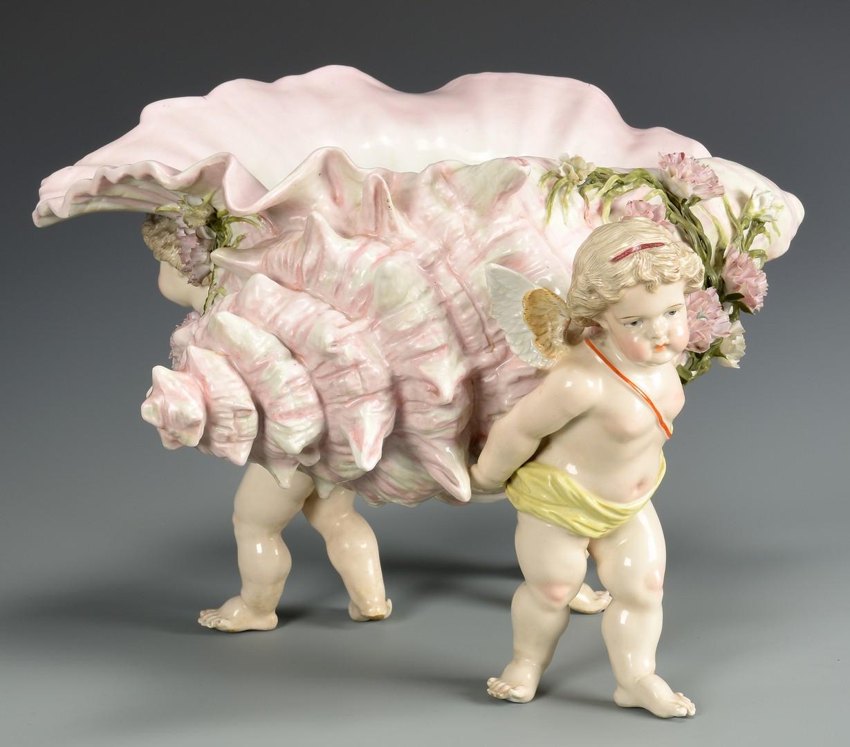 Lot 600: German Porcelain Centerpiece w/ shell