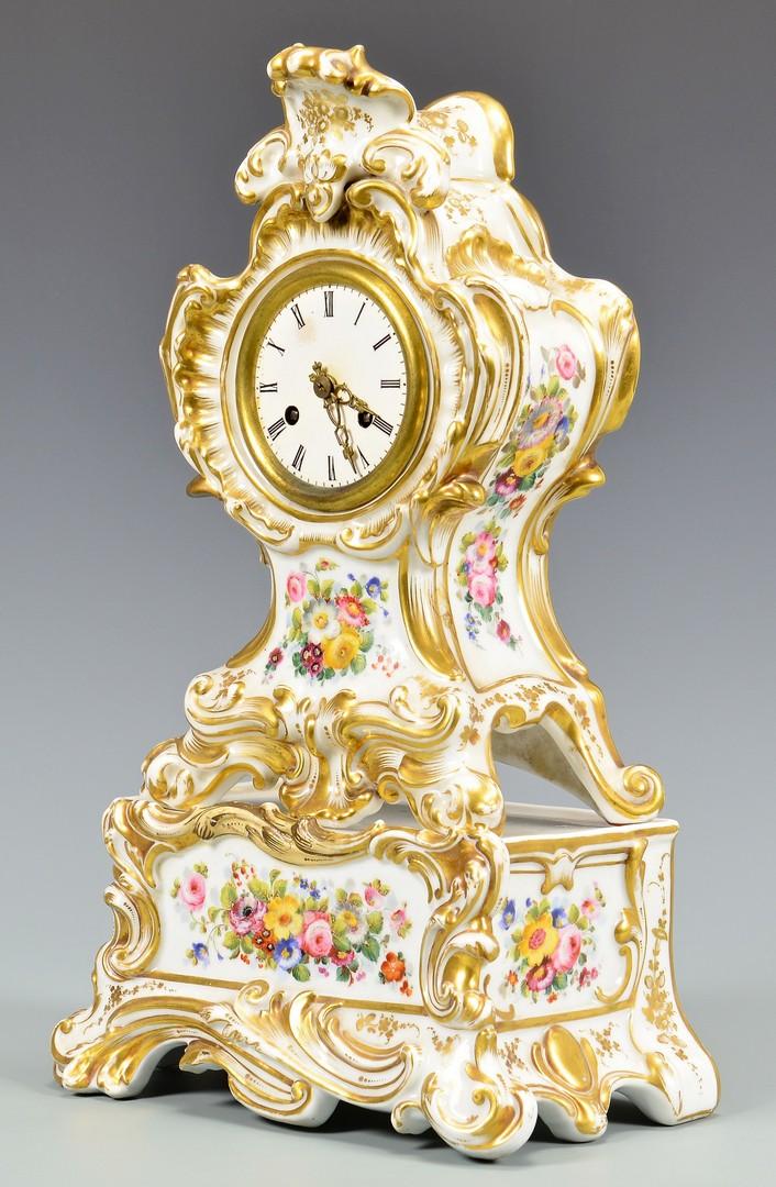 Lot 605: Old Paris Clock w/ Pedestal Base