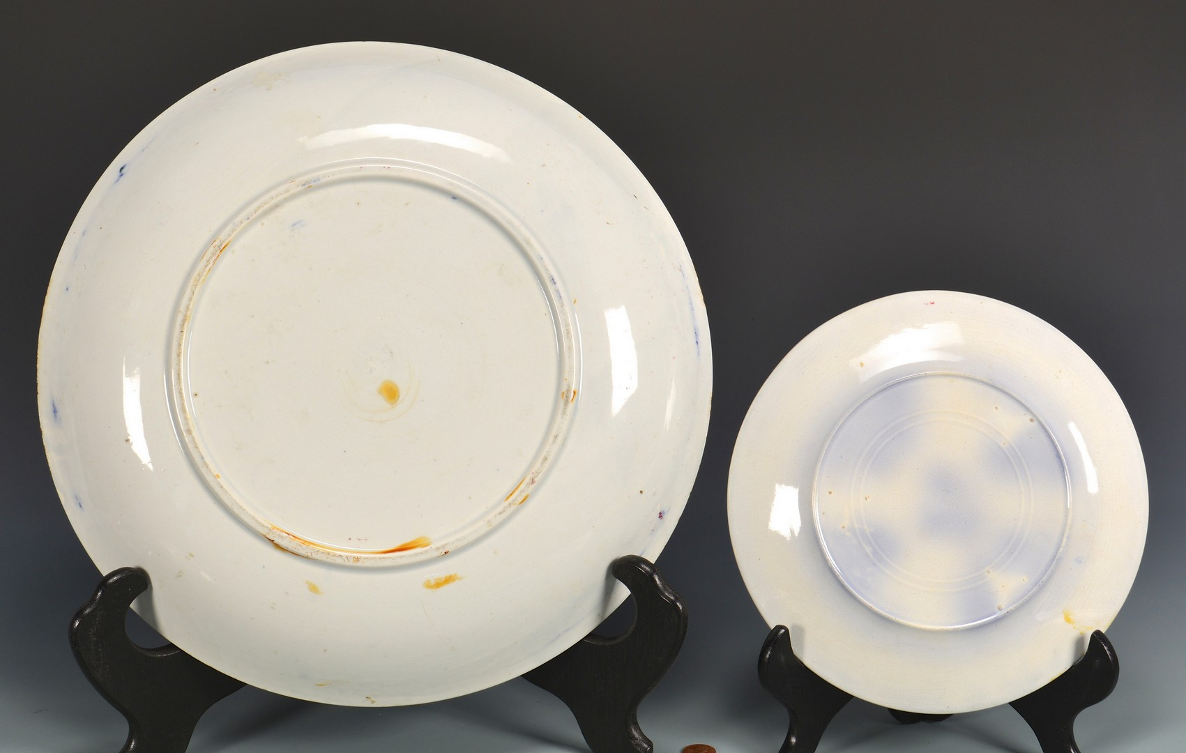 Lot 607: 6 Pcs. Stick Spatterware incl. Rabbitware