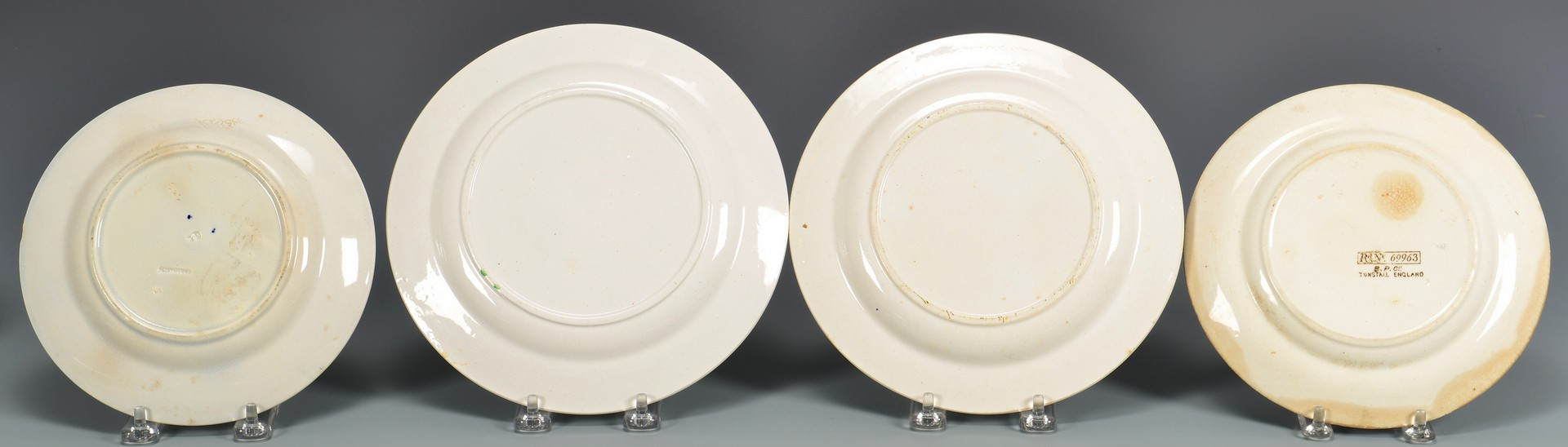 Lot 608: Group of 23 English ABC Pottery Plates