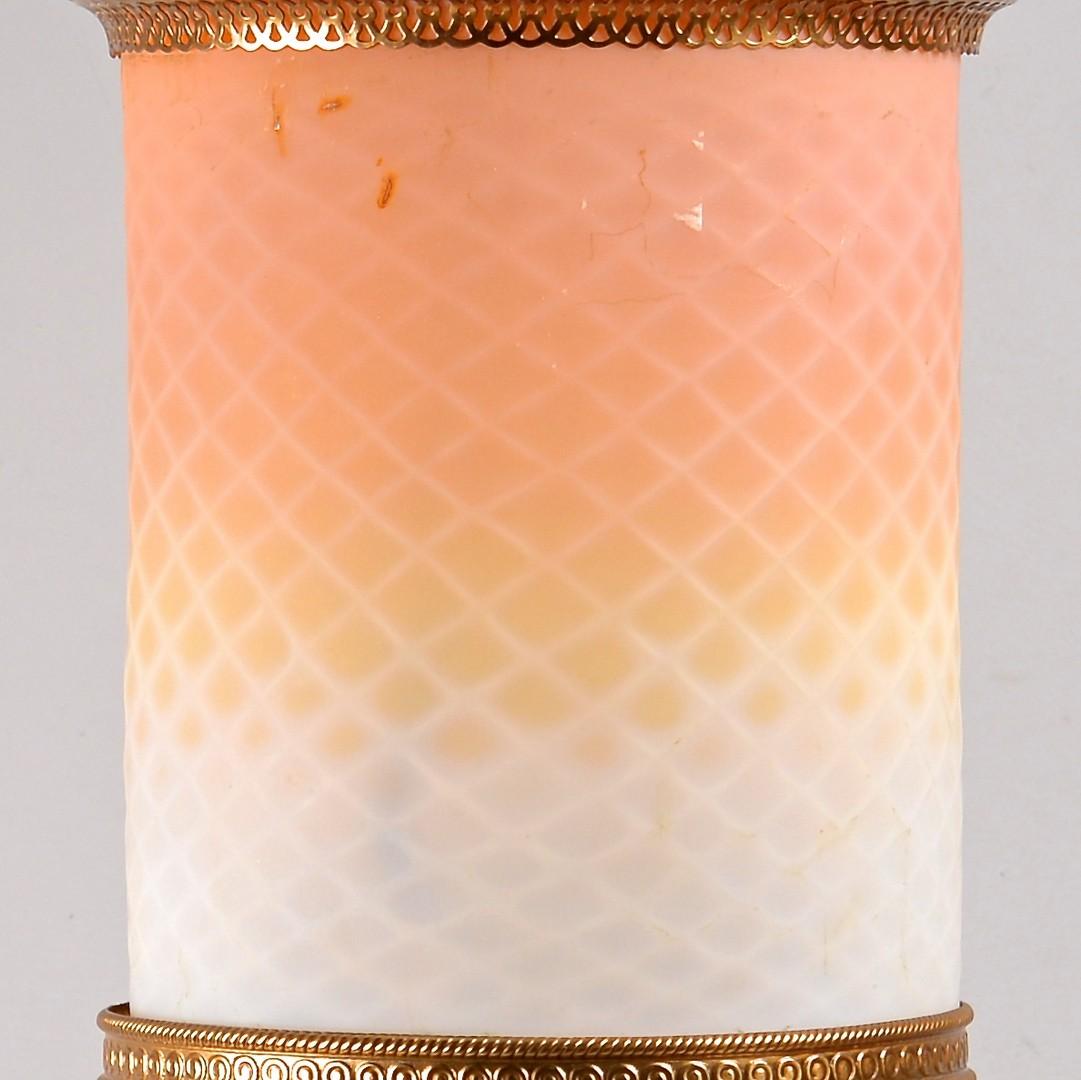 Lot 612: Hanging Peachblow Lantern