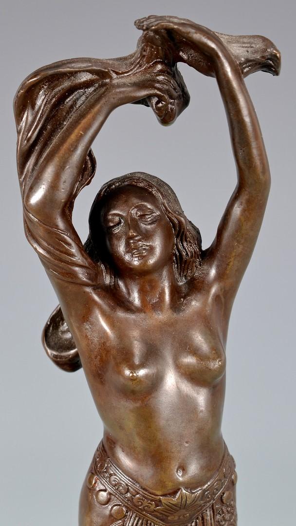 Lot 620: Bronze Nude Sculpture