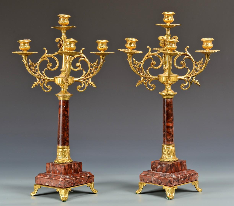 Lot 621: German Lenzkirch Trophy Garniture Set