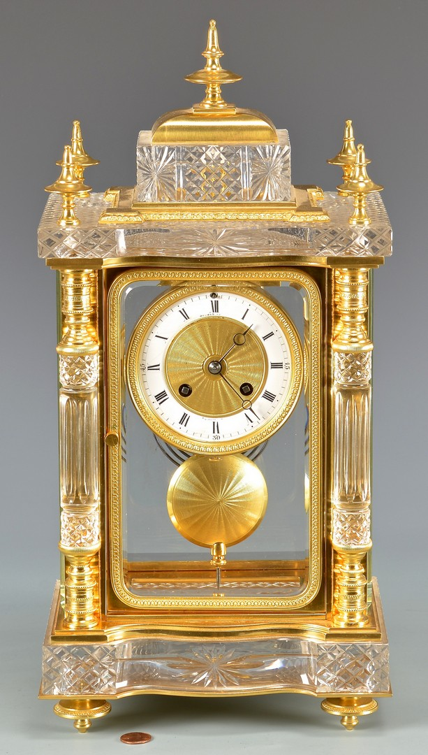 Lot 625: Spaulding Crystal Regulator Clock