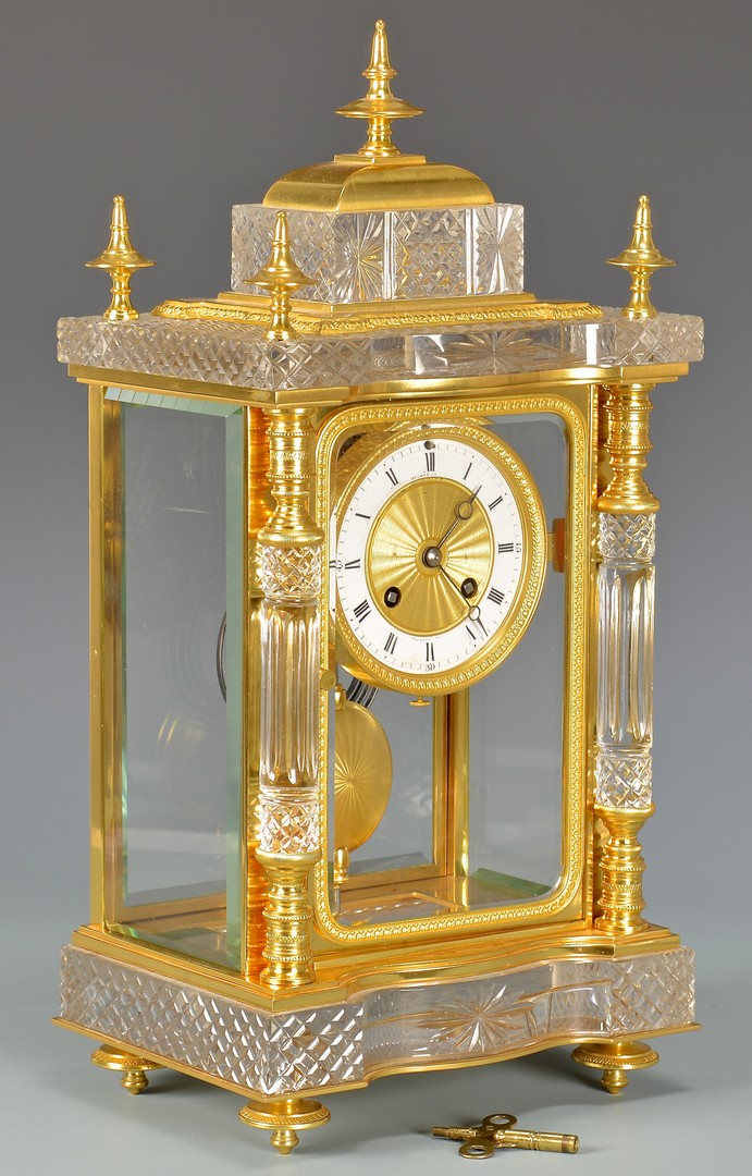 Lot 625: Spaulding Crystal Regulator Clock