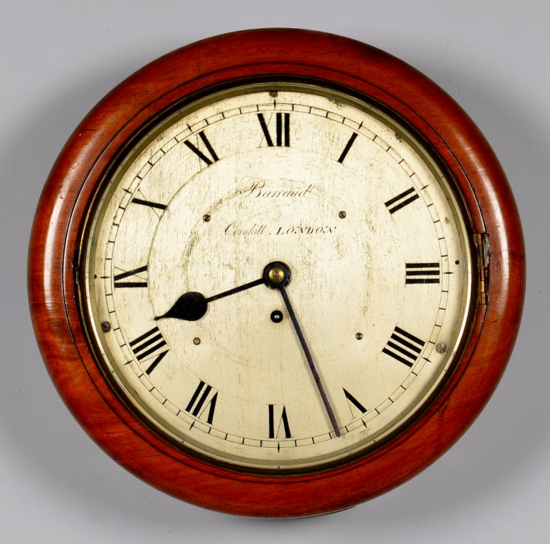 Lot 627: English Barraud Fusee Dial Wall Clock