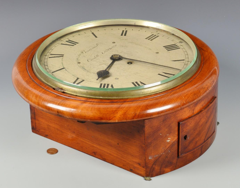 Lot 627: English Barraud Fusee Dial Wall Clock