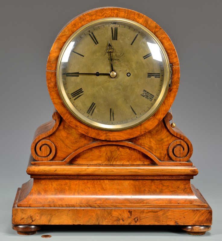 Lot 628: English J. V. Field Mantel Clock