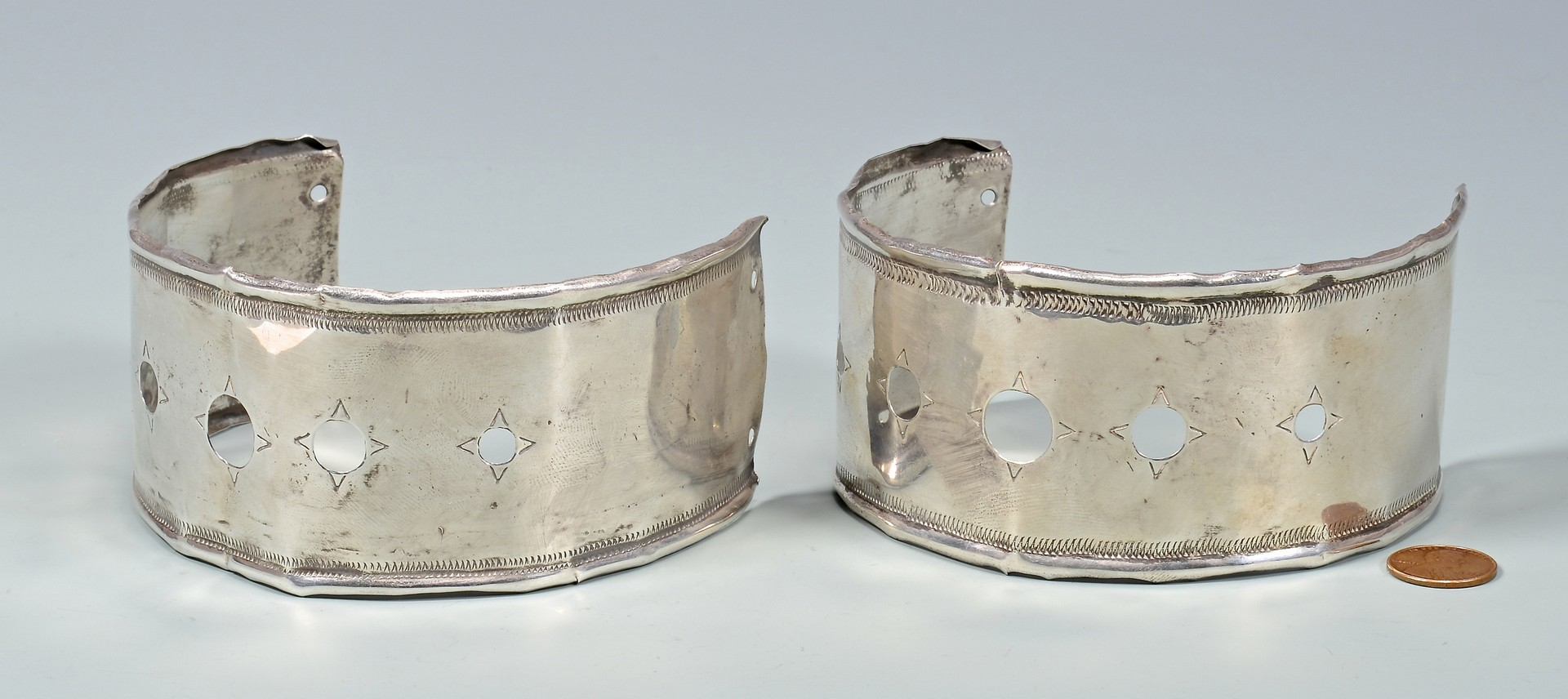 Lot 62: Indian Trade Silver Arm Bands