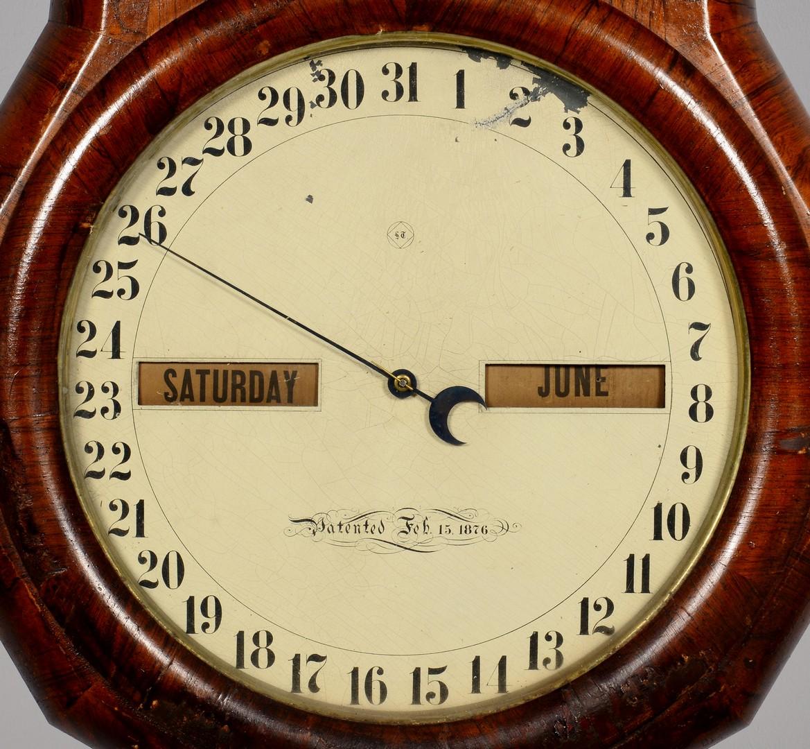 Lot 630: Seth Thomas Double Dial Calendar Clock