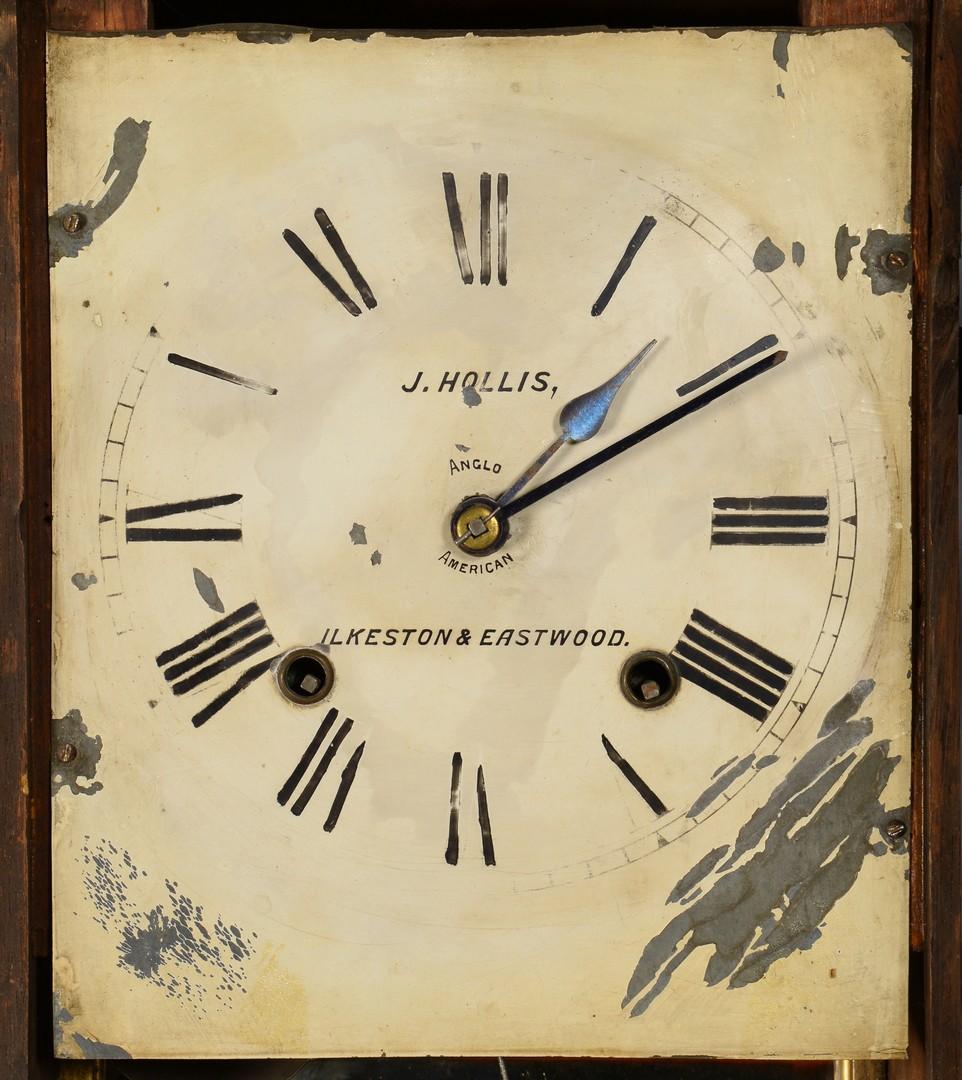 Lot 631: English Tunbridge Marquetry Wall Clock