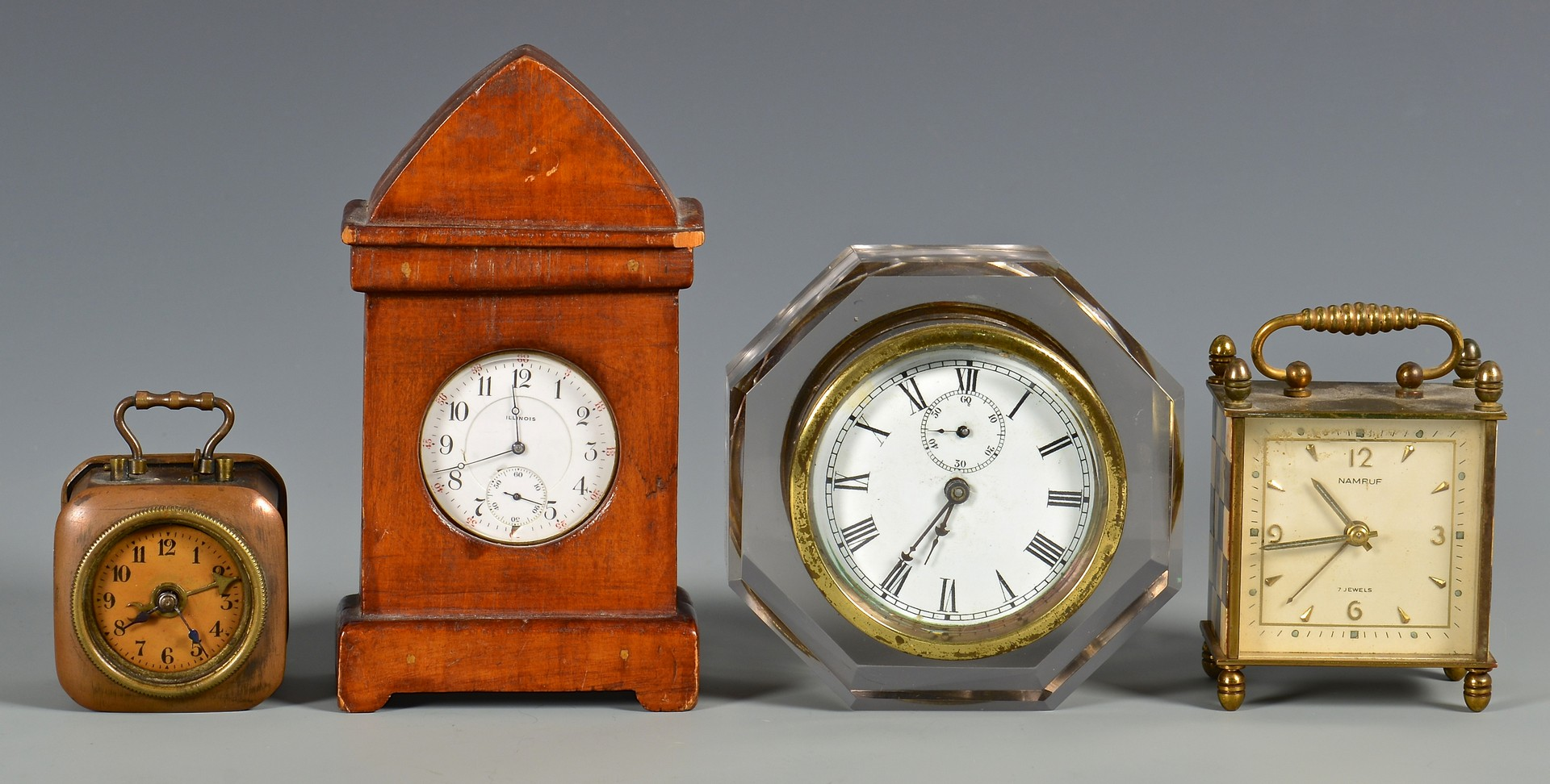 Lot 633: Grouping of Assorted Table Clocks, 5 total