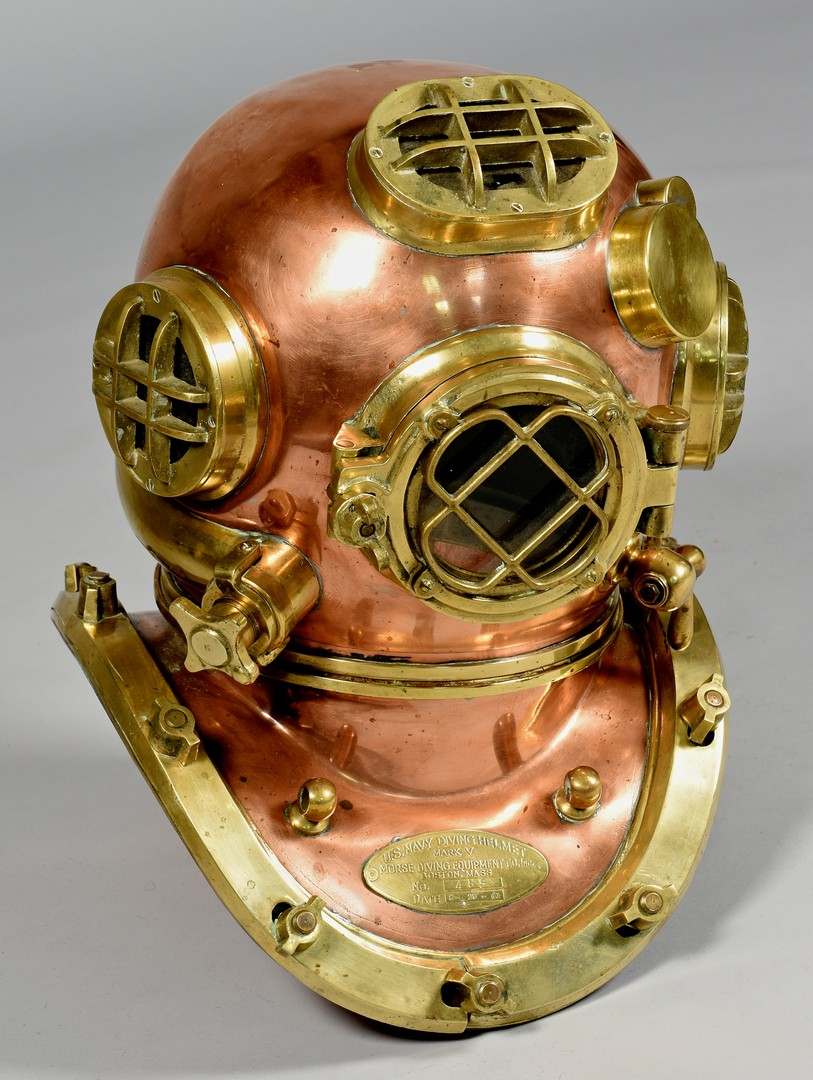 Lot 636: US Navy WWII Mark V Dive Helmet