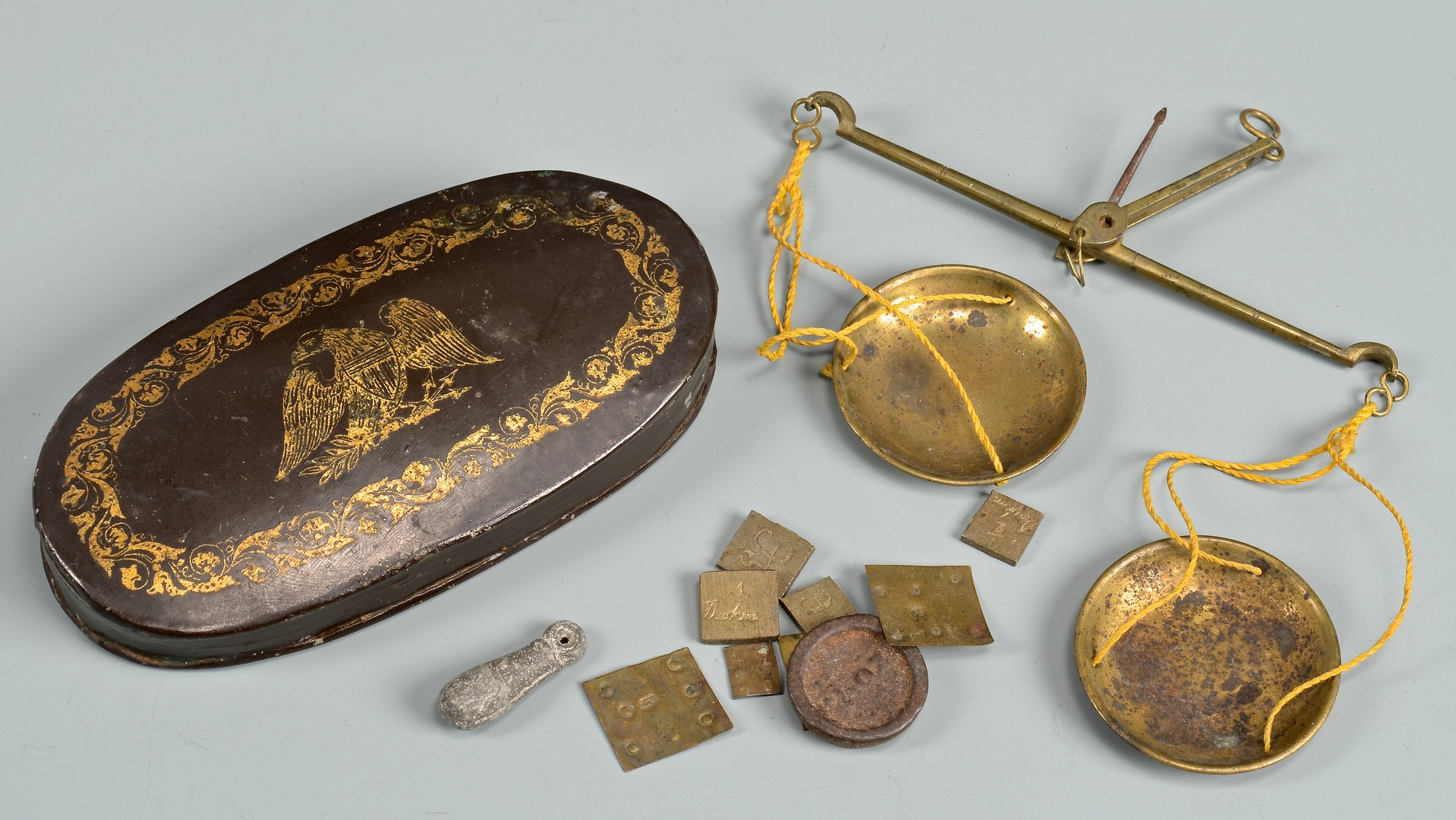 Lot 637: Gold Rush Scale, Navy Buckle and 5 other assorted