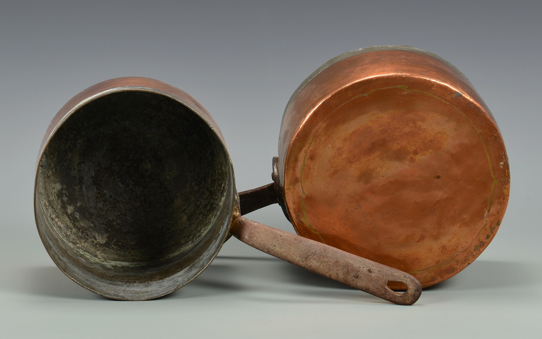 Lot 639: 5 European Copper Kitchen Items