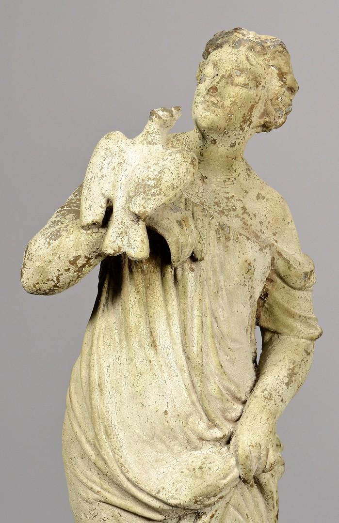Lot 642: J. W. Fiske Fountain w/ Zinc Virtue Figure, Iron B