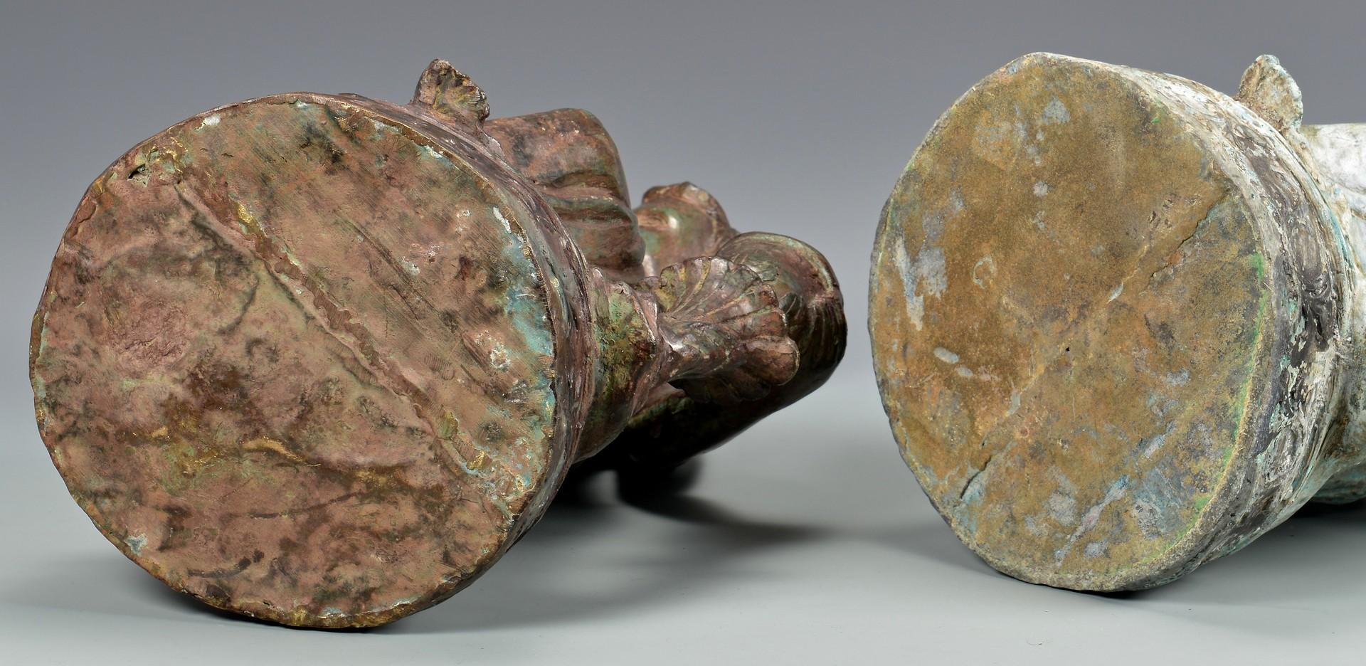 Lot 644: Two Bronze Putti Garden Figures