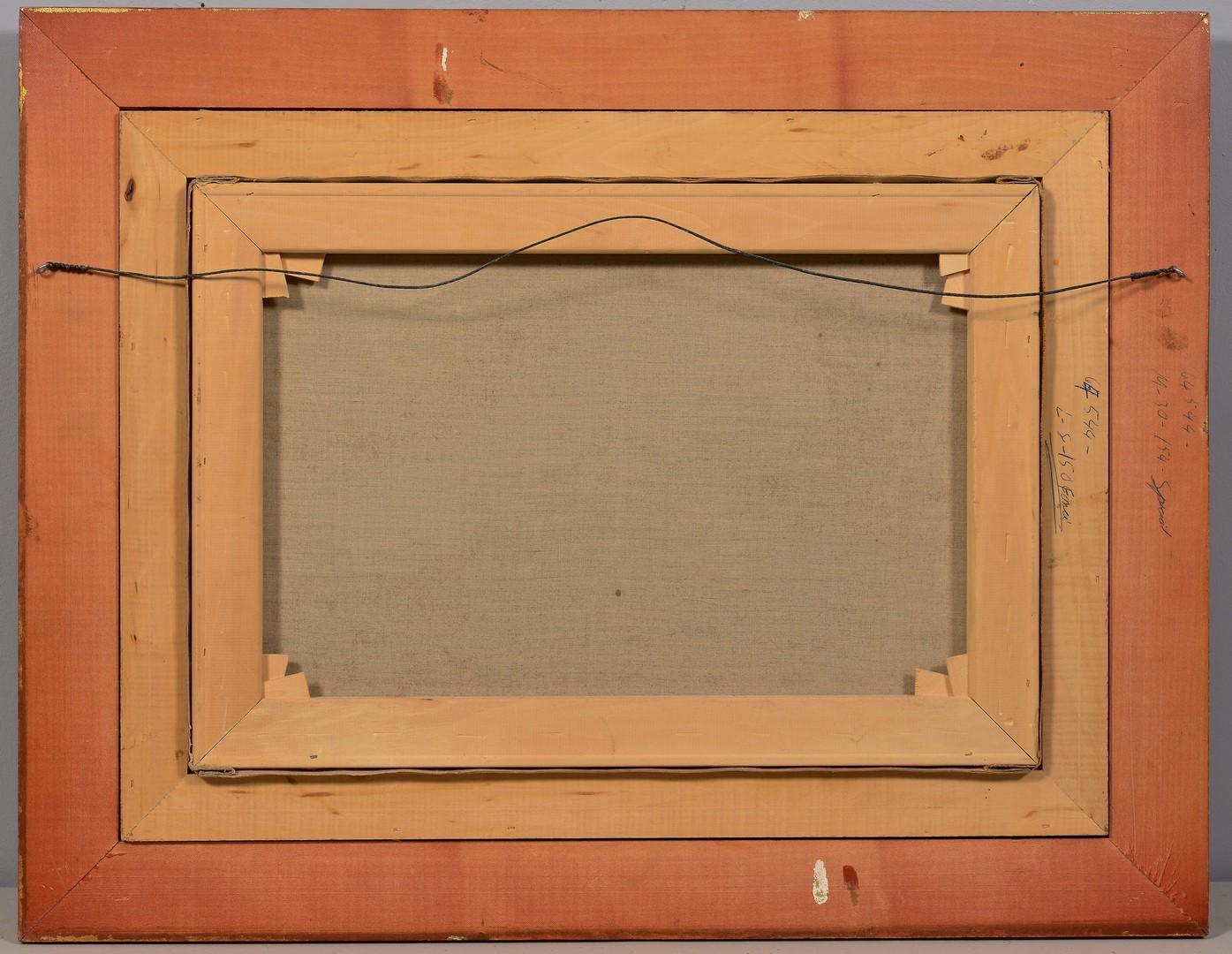 Lot 646: Emile Nourrigat O/C Classical Scene