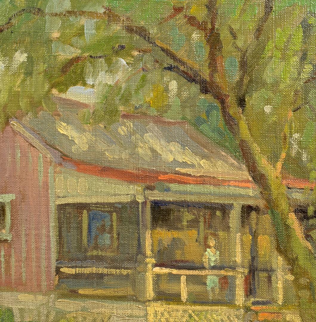 Lot 652: John T. Bauscher O/B, KY Cabin Scene