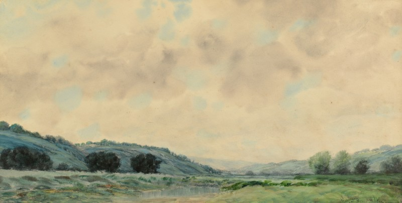 Lot 654: Kentucky, Robert Burns Wilson Watercolor