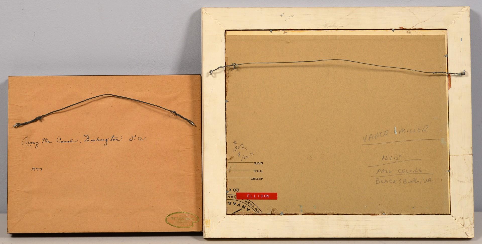 Lot 657: J. Vance Miller, 2 O/B Southern Landscapes