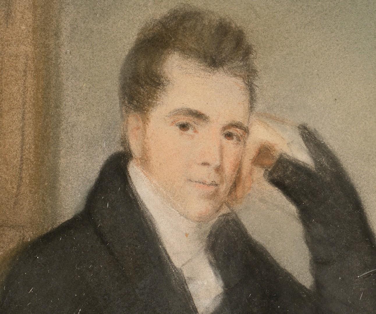 Lot 658: Pastel Portrait of Enoch Paine