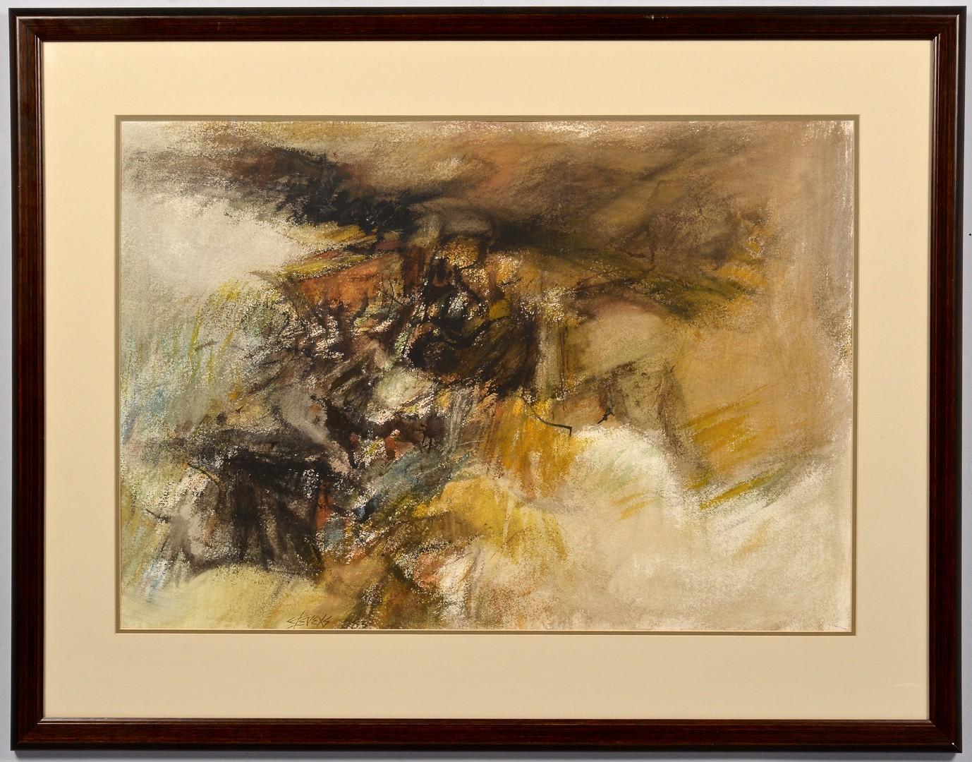 "Lot 660: Walter Hollis Stevens W/C, ""Ravine I"""