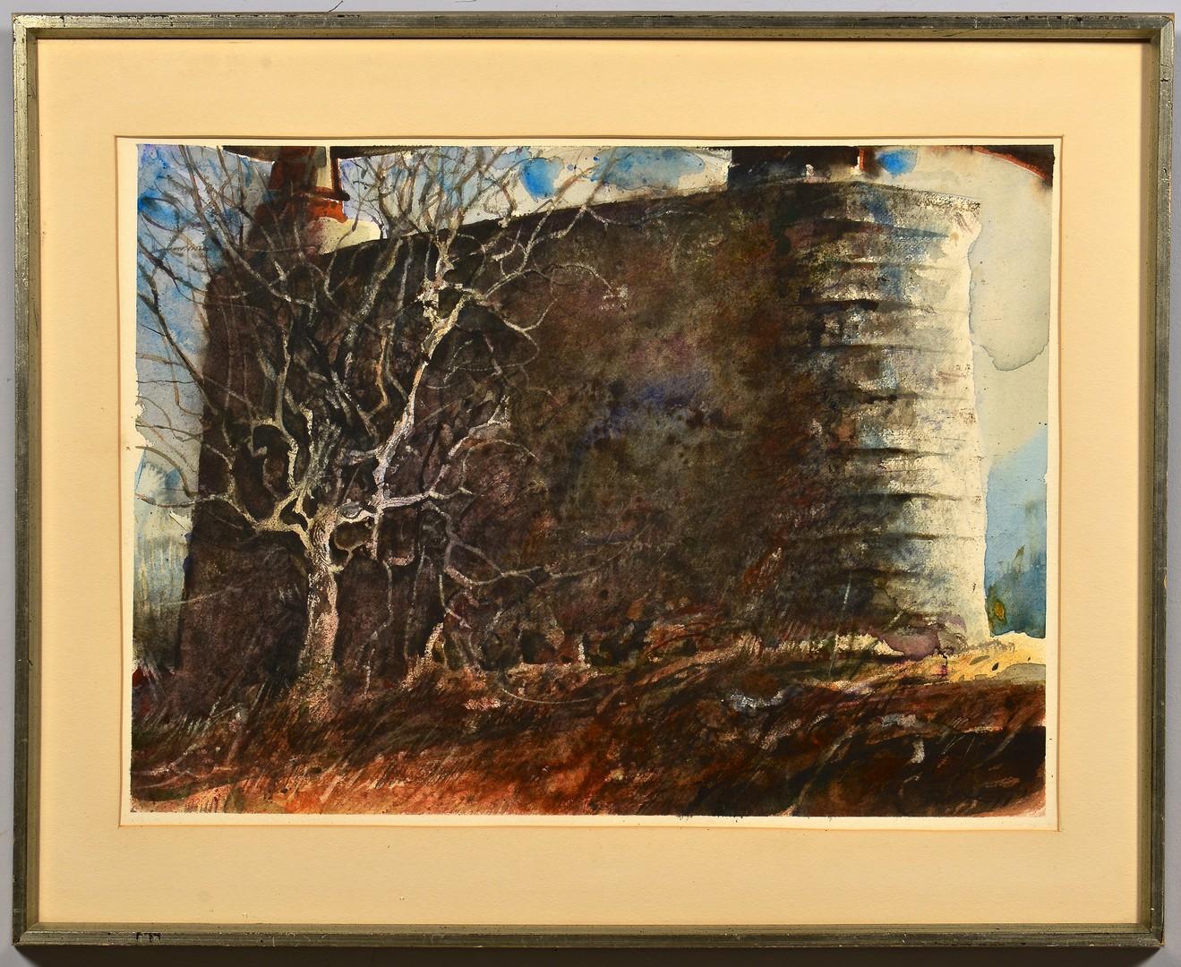 Lot 661: Carl Sublett Watercolor of Gay Street Bridge