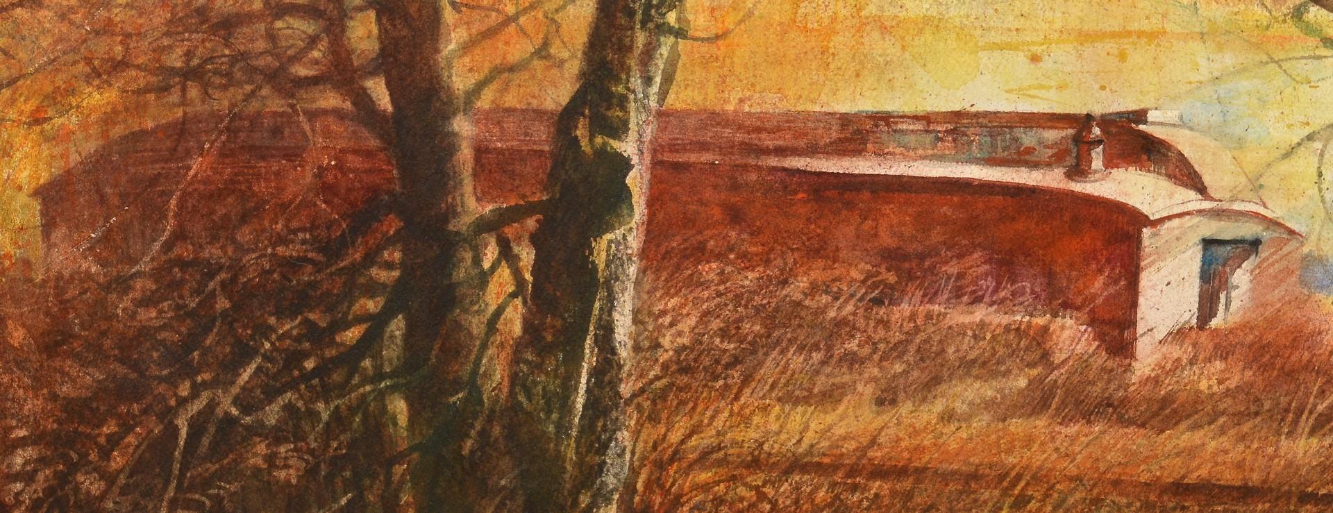 Lot 662: 2 Carl Sublett Watercolor landscapes