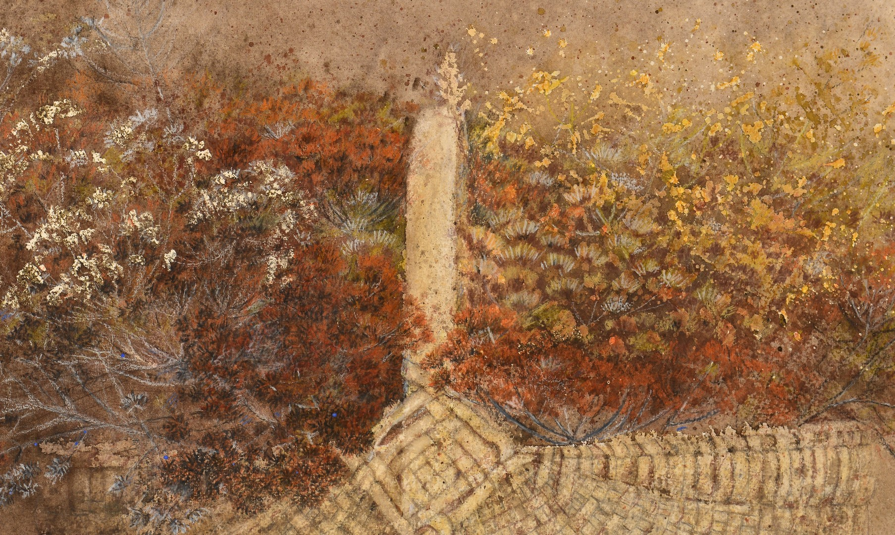Lot 666: Pauline Wallen Watercolor Still Life with basket