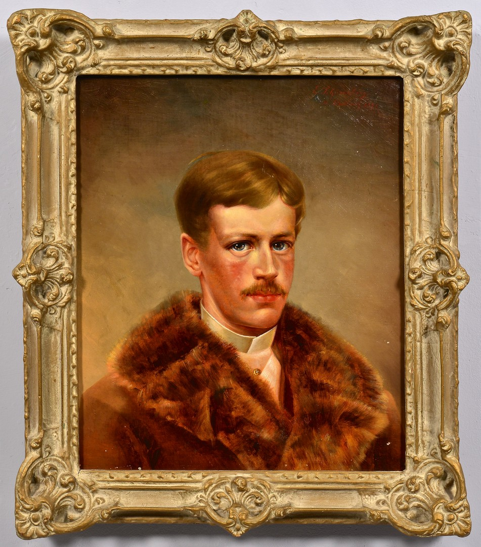 Lot 678: German Portrait of Young Man, late 19th c.