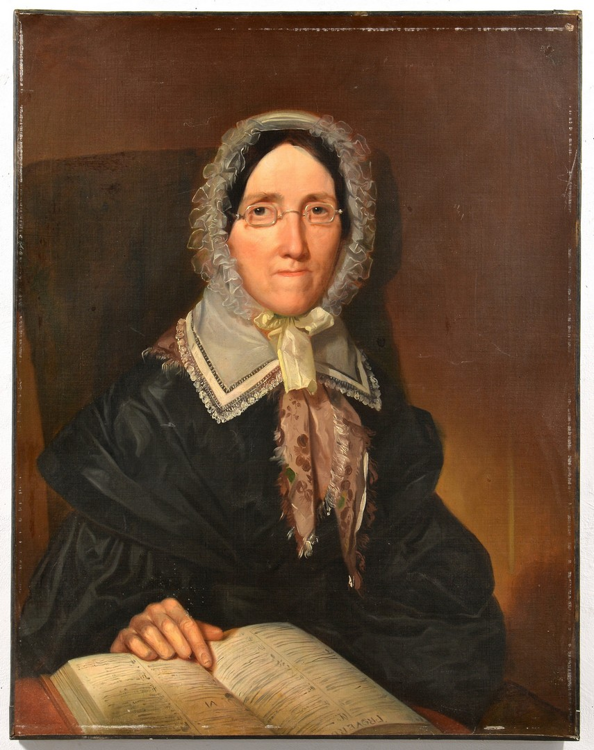 Lot 679: Portrait of a Lady Reading Proverbs 6