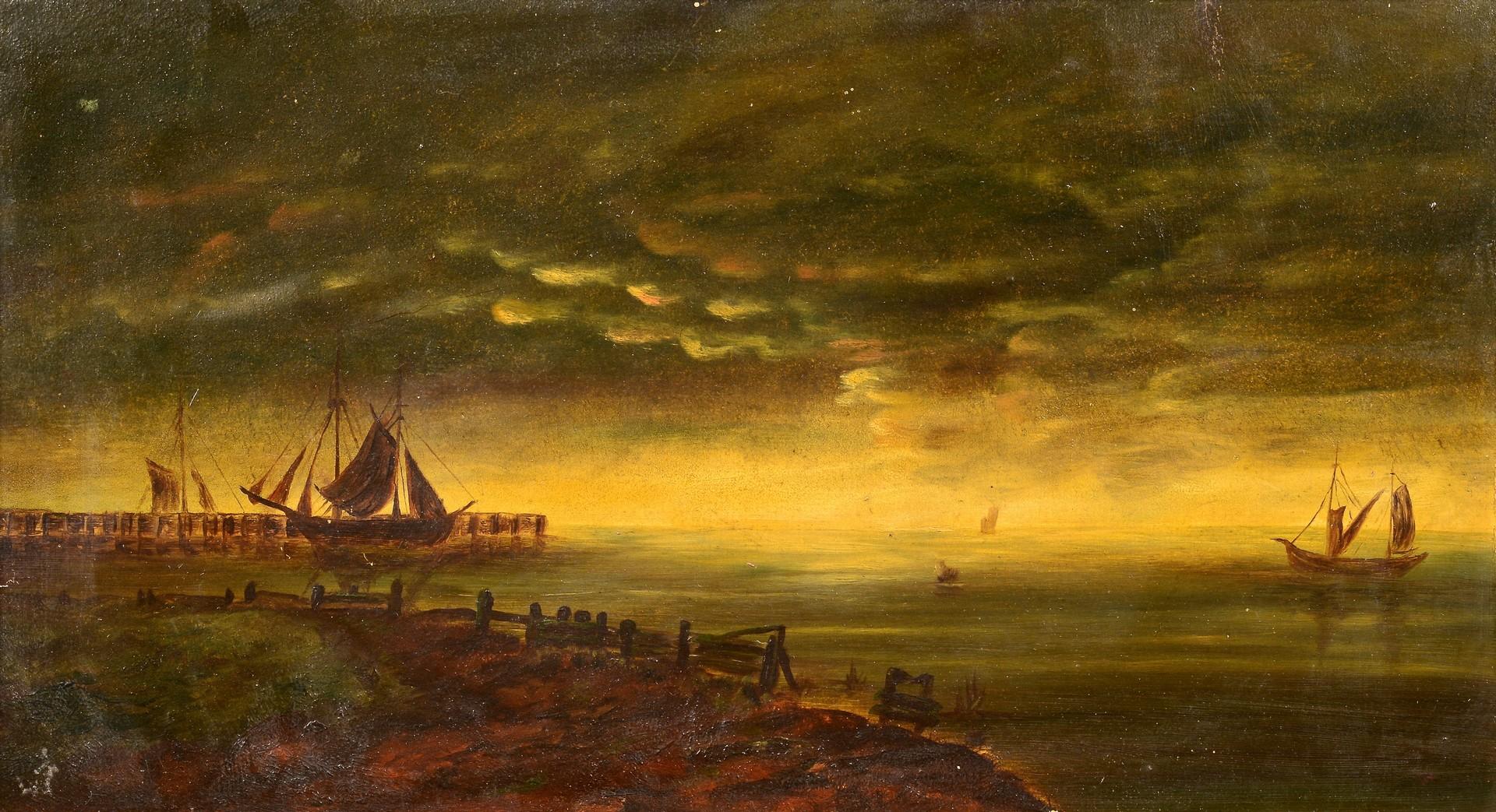 Lot 683: American School Marine Painting