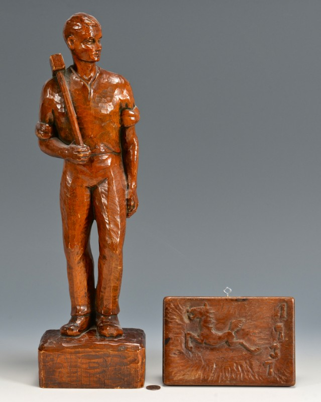 Lot 684: 2 Carved WPA Related Items